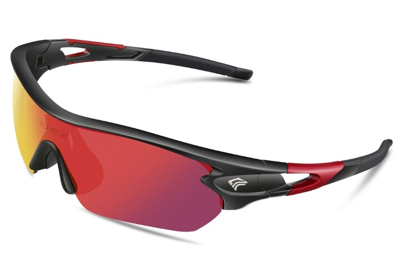 TOREGE Polarized Sports Sunglasses with 5 Interchangeable Lenses