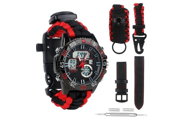 BlueStraw Men Women Survival Analog Digital Watch